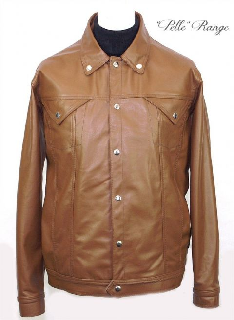 "The Modclothin 2 ""Moon"" Jacket in Tan Leather"